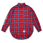 HALLUCINATION OVERSIZED CHECK SHIRTS RED