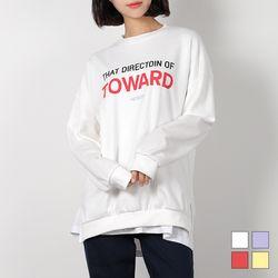 2457 투월드 트임 맨투맨 티셔츠 (4colors)