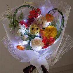 아네모네하트꽃다발 55cmP(전구포함) (조화) FMBBFT