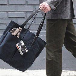 6 Pocket 3 Way Bag - Wax Canvas Navy ( 네이비 )