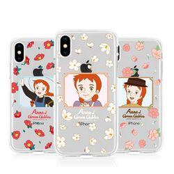 [T]빨강머리 앤 블루밍 젤리 케이스.아이폰5S(SE)