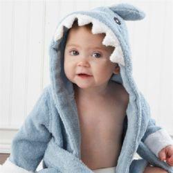 블루상어 베이비 샤워가운 아기목욕가운 유아비치가운