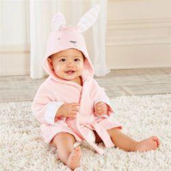 토끼 베이비샤워가운 아기목욕가운