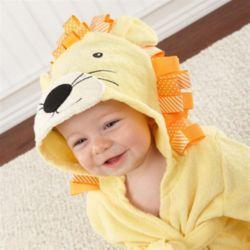 사자 베이비샤워가운 아기목욕가운