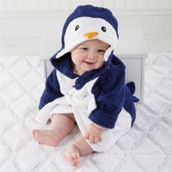 펭귄 베이비샤워가운 아기목욕가운
