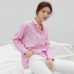 피크닉 체크셔츠 (핑크 블루)