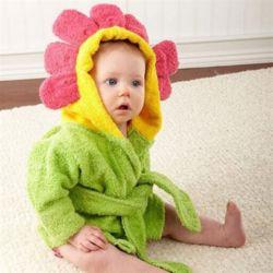 꽃 베이비샤워가운 아기목욕가운