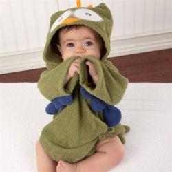 초록부엉이 베이비샤워가운 아기목욕가운