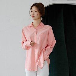 내추럴 컬러셔츠 (피치 핑크)