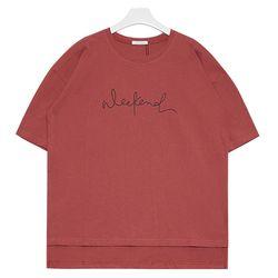 weekend 티셔츠  (레드)