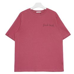 french 티셔츠 (화이트 핑크)