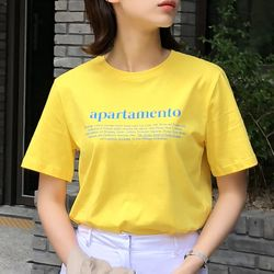apartamento 티셔츠 (옐로우)