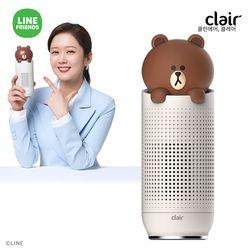 [전용필터증정] S 클레어 라인프렌즈 브라운 휴대용 차량용 공기청정기