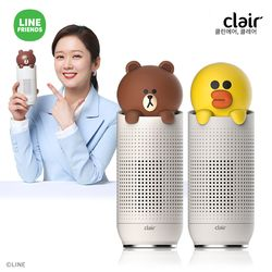 [전용필터증정] S 클레어 라인프렌즈 브라운&샐리 휴대용 차량용 공기청정기