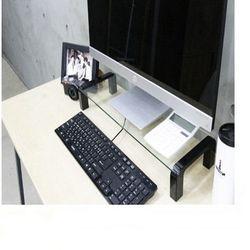 i-bridge MC-500 모니터 받침대(블랙)-강화유리
