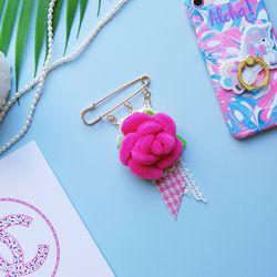 토이 브로치-로즈 플라워(핑크)