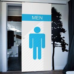 ci363-남녀아이콘화장실현관문시트지