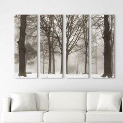 cv370-겨울안개숲풍경대형노프레임세트