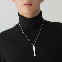 [ARETE] Plaque Rectangle Necklace