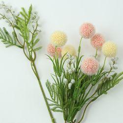 폼폼플라워 장식 (카네이션부케 꽃재료 인테리어소품)