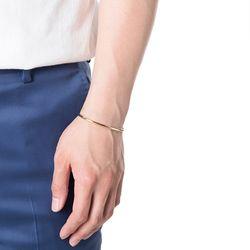 [ARETE] Round Thin Cuff