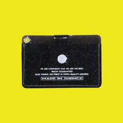 BUTTON CARD WALLET NKC BLACK
