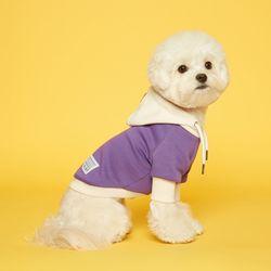강아지옷 콤비 플로트후드 - 아이보리퍼플