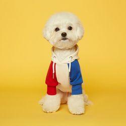 강아지옷 콤비 플로트후드 - 레드블루