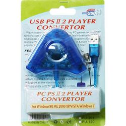 PS2 to PC  PS3 2way 컨버터 (2인플레이  USB)