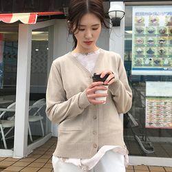 sweet v-ncek cardigan (beige)