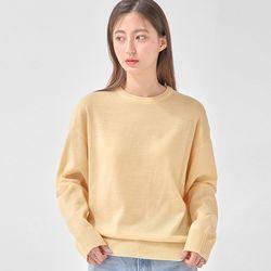 FRESH A plain round knit