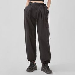 berry jogger strap cotton pants