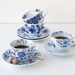 블루밍 커피잔 4인 세트 JAPAN
