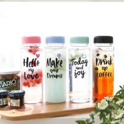 [무료배송] 일러스트 보틀 트라이탄 캘리 휴대용보틀 BPA free