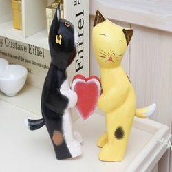 고양이세트 A형 인테리어소품 미니어처 장식소품