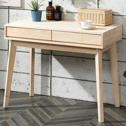 심플  라인 원목 서랍 테이블