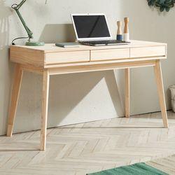 심플  라인 원목 서랍 테이블 1200