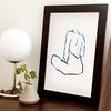 블루블랙 드로잉 포스터 A3 - BlueBlack Art Poster