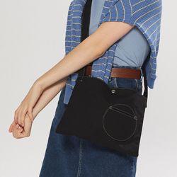 circle point pocket bag - black