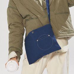 circle point pocket bag - blue