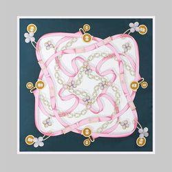 Silk Happy Square Petit Scarf