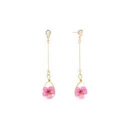 봄의 기억 생화 꽃 귀걸이 핑크(AGID9305TBPP)