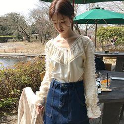 plume lace blouse (2colors)