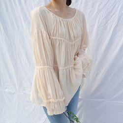 Police frill blouse