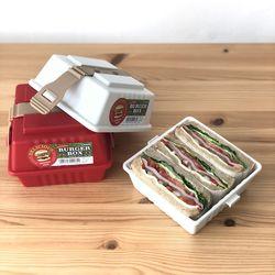 일본 샌드위치 버거 박스 도시락  런치박스