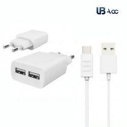 UB USB 2Port 마이크로 5핀 2.1A 듀얼 충전기+젠더