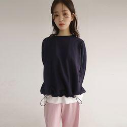 string control sweatshirt (2colors)