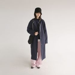 cotton hood trench coat (3colors)