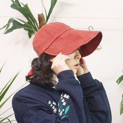 마혼방 뒷리본 긴 와이어챙 썸머 볼캡 모자