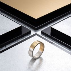 [ARETE] Twotone Brushed Ring